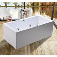 1600mm Indoor Contemporary White Soaking Freestanding Bath Tub / Indoor Jacuzzi Hot Tubs Manufactures