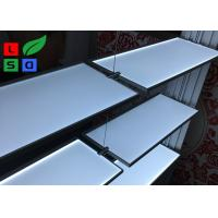 Aluminum Slot LED Flat Panel Light Single Side LED Lite Shelf For Body Cream Display Manufactures