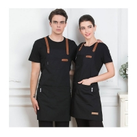 Black Blue Green China Manufacture Durable Cotton Kitchen Apron for Cooking Chef 7-Eleven Aprons with Customized Logo Manufactures