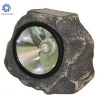 Polyresin Stone Solar Lights / Solar Rock Landscaping Spotlights For Emergency Manufactures
