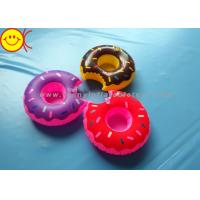 Quality Mini Delicious Food Inflatable Toys Donut Cup Holder for Party Fun / Bath Time for sale