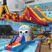 inflatable pool obstacle , kids obstacle course equipment , kids obstacle course, floating water playground obstacle Manufactures