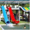 Water Park Swimming Pool Slides , Fiberglass Barrel And Sled Slides Manufactures