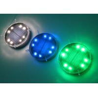 Dia. 80mm Solar Powered Ground Lights Elegant Outdoor Lighting Decoration For Holidays And Festivals 8 LEDs Manufactures