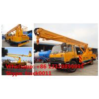 dongfeng 4*2 153 190hp diesel aerial working paltform truck, China dongfeng 20m high altitude operation truck for sale Manufactures
