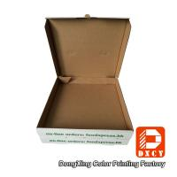 Quality White Takeaway Pizza Packaging Boxes , Custom Logo Printing Innovative Foldable for sale