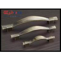 Quality Polished Brass Kitchen Cupboard Door Handles Chinese Style Square European Cabinet Pulls for sale