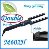 Newest style professional double barrels hair curling iron Manufactures