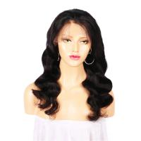 Attractive Cambodian Lace Front Human Hair Wigs Loose Wave Full Cuticle Aligned