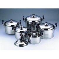 10 PC SS 410 Stainless Steel Cookware Pan Sets with Bakelite Handle Manufactures