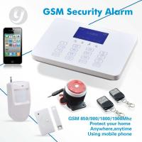 Quality Android APP Home Security Alarm System With LCD Touch Keypad Word Menu Easy Use for sale