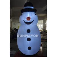 Merry Christmas LED Snownan Inflatable Advertising Model For Outdoor  Decoration Manufactures