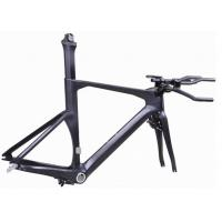 Di2 Compatible Carbon Triathlon Bike Frame 700C BSA / BB30 For Racing TT Bicycle Manufactures