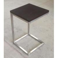 solid wood top stainless steel metal side table/End table/coffee table for hotel furniture TA-0080 Manufactures