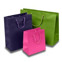 Matte Colored Jewelry Gift Bags Aqueous Coating Technics For Shopping Manufactures