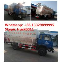 dongfeng 153 RHD 20m3 electronic system discharging animal feed delivery truck, dongfeng brand 4*2 RHD 10tons feed truck Manufactures