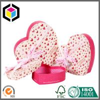 Ribbon Heart Shape Perfume Paper Chipboard Gift Packaging Box with Lid Manufactures