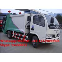 Customized high quality and lower Dongfeng 5m3 compression wastes collecting vehicle with rear loading hopper for sale Manufactures