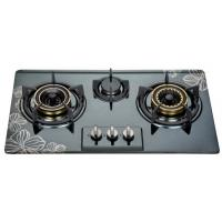 Built In Three Burner Gas Hob In Stainless Steel , 3 Burner Gas Cooktop 710*400mm Manufactures