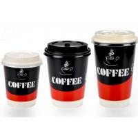 Two Wall Paper Drinking Cup For Cafe Shop , Takeaway Coffee Cups With Lids Manufactures