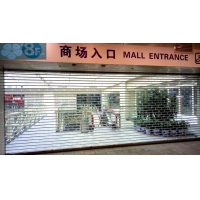 12mm Tube Polycarbonate Clear Roller Shutters For Mall Manufactures