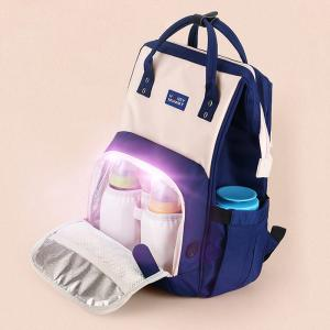 300D PU Cation Kill 99% Virus LED UV Disinfection Diaper Bag Manufactures