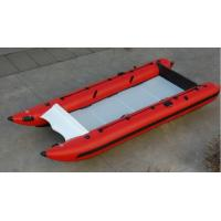 Quality Red Hand Crafted High Speed Inflatable Boats Racing Catamaran Boat With 450cm for sale