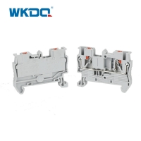 4mm2 Cable Din Rial Push In Terminal Block Anti Inflaming 24 AWG Manufactures
