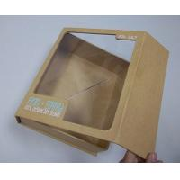 Pet Window Box, Brown Kraft Paper Thick Cardboard Folding Gift Boxes 8.6 * 7 * 2.8 Inch Manufactures