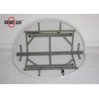 Lightweight Round Fold Up Table , Balcony White Fold Away Table Easy To Set Up Manufactures