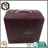 Plastic Handle Top Locking Tab Corrugated Packaging Box; CMYK Matte Color Print Box Manufactures