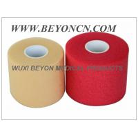 PU Breathable Porous No Adhesive Sports Pre Wrap Foam Underwrap To Protect Skin Manufactures