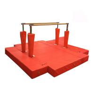 Waterproof Gymnastics Equipment Bars Red Fitness Equipment Steel Material Manufactures