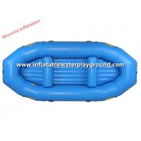 Professional Light Blue Inflatable Raft Boat Made Of PVC Tarpaulin Fabric Manufactures