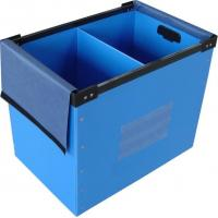 Clothes / Books Coroplast Corrugated Plastic Boxes For Moving / Packing / Storage
