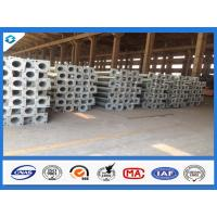 7.6M 3mm Thick Conical Hot Dip Galvanized Street Light Steel Poles Manufactures