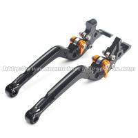 Adjustable Long Folding Brake Clutch Levers , Brake And Clutch Levers For Motorcycles Manufactures