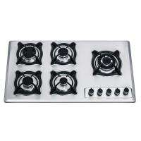 900mm 5 Ring Stainless Steel Gas Hob 860*510mm With Battery Pluse Ignition Type Manufactures