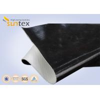 Quality One Side / Both Side Black Fireproof Fiberglass Cloth Silicone Coating For Fire Retardant for sale