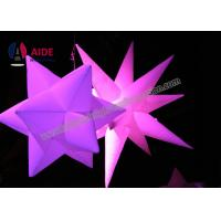 Ripstop Nylon Blow Up Lighting Inflatable Led Star Decorations Commercial / Rental Grade Manufactures