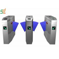 Customized Security Automatic Falp Barrier Gate Double Card Reader Wing Gates Manufactures