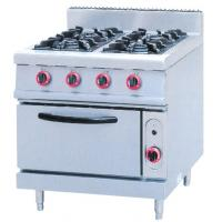 Quality JUSTA ZH-RQ-4 Stainless Steel Kitchen Equipments 4.8KW PNG Gas Burner With Oven for sale