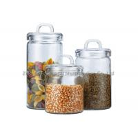 Custom Recycled  Glass Storage Canisters / small glass jars with lids for home Manufactures