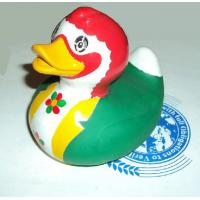 Quality EN71 Promotional Green Weighted Rubber Ducks Gift For Race / Bath Time for sale