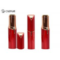 Rechargeable Mini Painless Face Hair Remover Gold Plated Lipstick Shaped Manufactures