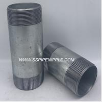 China Standard Size  Galvanized Steel Pipe Nipple  Male Thread 	Equal Shape on sale