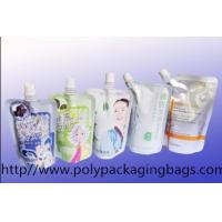 Quality 1-7 Colors Gravure Printing Foldable Packaging Bag With Spout For Water / Juice for sale
