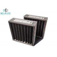 "1"" 2"" 4"" Available Pleated Panel Air Filters Black for Odor / Gas Filtration Manufactures"