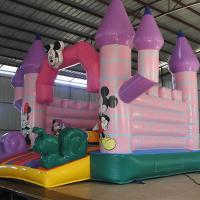 Quality Tarpauline Inflatable Toy For Kids / Inflatable Camelot Bounce House Mickey Theme for sale