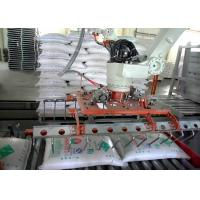 Full Automatic Robot Palletizing System PLC Control for Cartons and Bags Low Breakage Manufactures